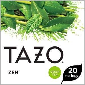 Tazo Zen Moderate Caffeine Level Green Tea Bags For a Calming Beverage