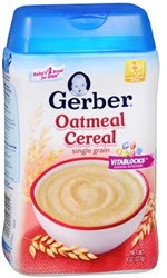 Gerber Baby Cereal Oatmeal(8 oz )