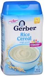 Gerber Single Grain Cereal Rice(8 oz )