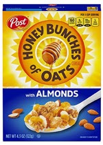 Honey Bunches of Oats with Almonds Cereal(4.3 oz )