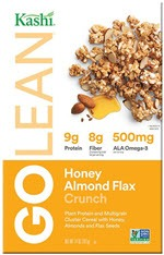 Kashi GoLean Crunch! Multigrain Cluster Cereal Honey Almond Flax(14 oz )