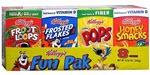Kellogg's Fun Pak Cereals 8 Pack(8.56 Ounces )