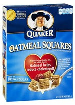 Quaker Oats Oatmeal Squares Crunchy Oatmeal Cereal Brown Sugar(14.5 Ounces )