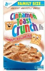 General Mills Cereals Cinnamon Toast Crunch