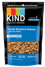 Kind Vanilla Blueberry Clusters with Flax Seeds